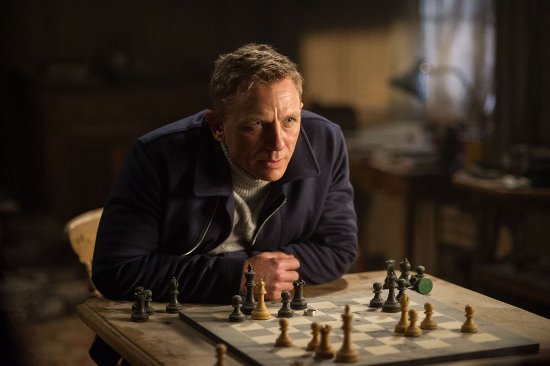 Daniel Craig playing James Bond in the upcoming Spectre