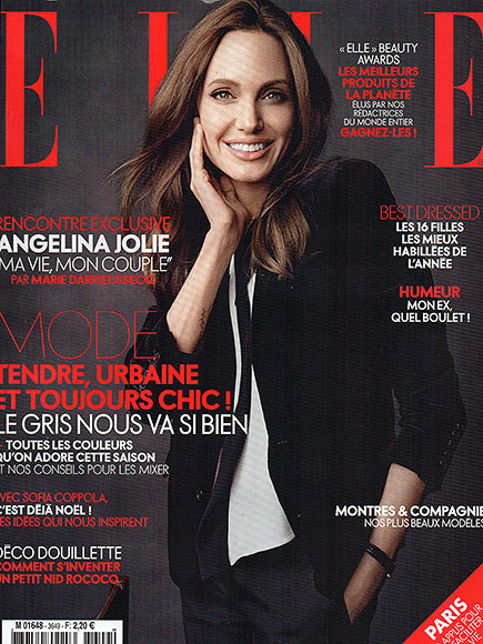 Angelina Jolie graces the Elle December cover