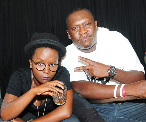 Salvado with close friend Anne Kansiime