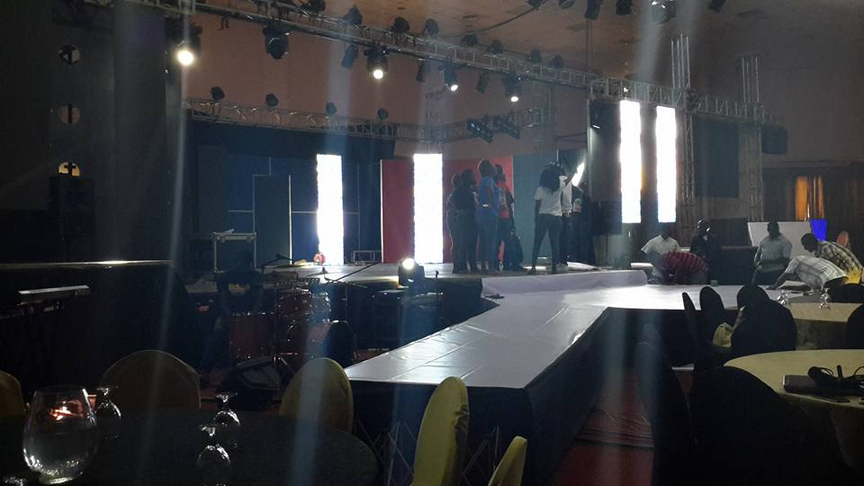 The stage of the I am Kansiime show is all set