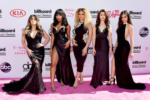 LAS VEGAS, NV - MAY 22: (L-R) Recording artists Ally Brooke, Normani Hamilton, Dinah-Jane Hansen, Lauren Jauregui and Camila Cabello of Fifth Harmony attend the 2016 Billboard Music Awards at T-Mobile Arena on May 22, 2016 in Las Vegas, Nevada. (Photo by David Becker/Getty Images)