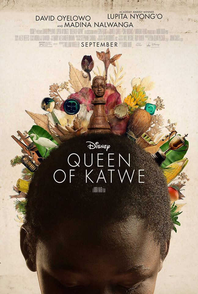 The official Queen of Katwe movie cover