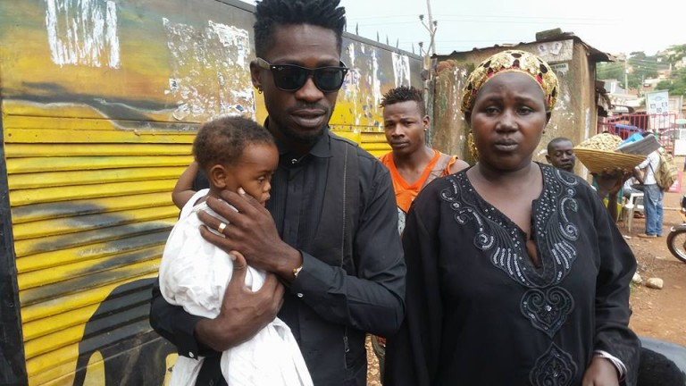 Bobi Wine with Muwonge and his mother
