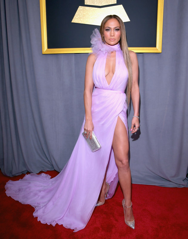 LOS ANGELES, CA - FEBRUARY 12: Recording artist Jennifer Lopez attends The 59th GRAMMY Awards at STAPLES Center on February 12, 2017 in Los Angeles, California. (Photo by Lester Cohen/WireImage)