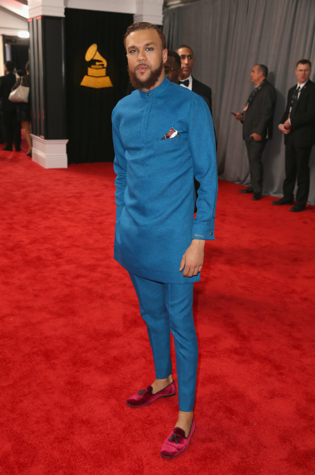 LOS ANGELES, CA - FEBRUARY 12: Recording artist Jidenna at The 59th Annual GRAMMY Awards at STAPLES Center on February 12, 2017 in Los Angeles, California. (Photo by Joe Scarnici/Getty Images for FIJI Water)