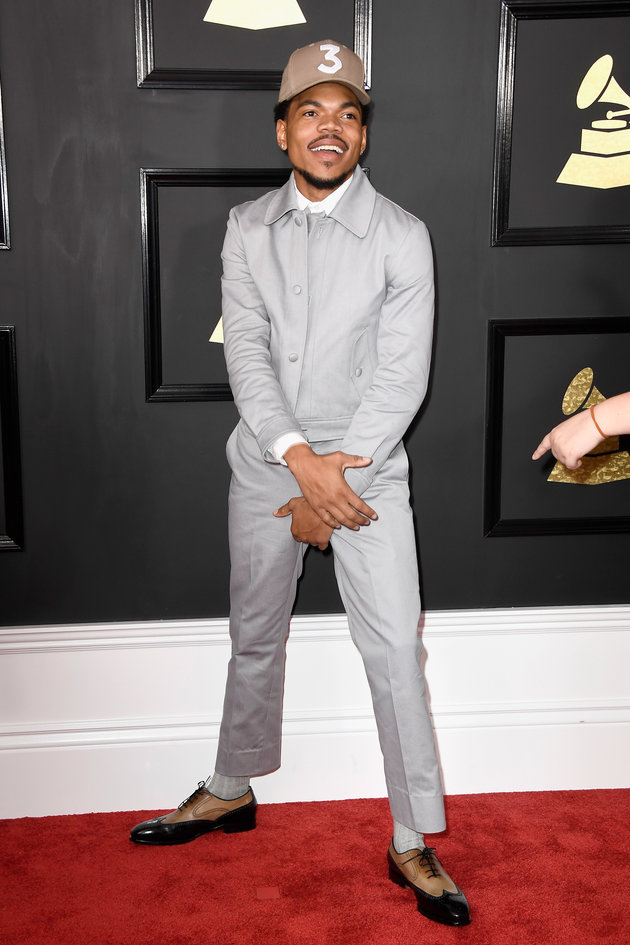 LOS ANGELES, CA - FEBRUARY 12: Chance the Rapper attends The 59th GRAMMY Awards at STAPLES Center on February 12, 2017 in Los Angeles, California. (Photo by Frazer Harrison/Getty Images)